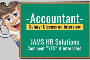 Accountant Vacancy in JAMS HR Solutions