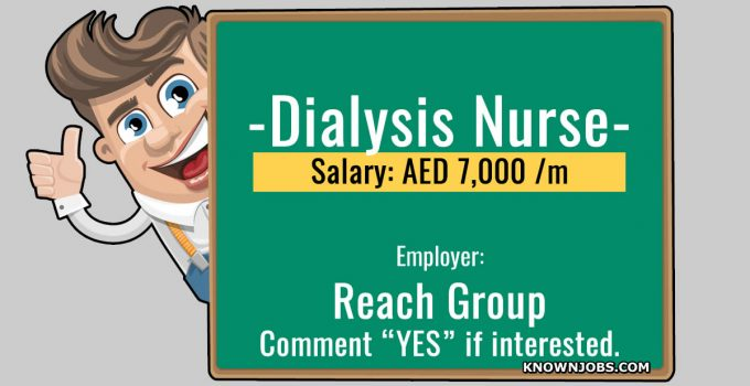 Dialysis Nurse Vacancy in Reach Group