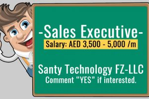 Sales Executive Vacancy in Santy Technology FZ-LLC